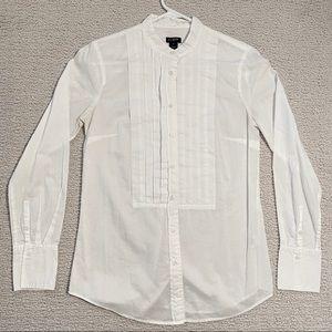 J Crew White Tuxedo Button Down Shirt